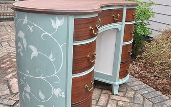 Painted Mahogany- Kidney Shaped Desk
