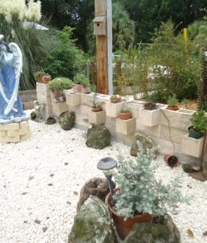 our new angel garden, answer to a problem spot where it was hard to mow.