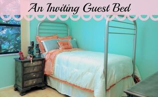 turn an old bunk bed into an inviting guest bed, bedroom ideas, home decor