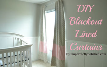 DIY Blackout Curtains with Colorblock Stripe