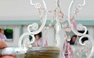 how to clean your chandeliers and light fixtures in minutes, cleaning tips, lighting, Yep a paint brush