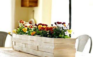 tabletop wood shim planter box, crafts, gardening