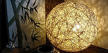 diy hemp string lamp, crafts, electrical, repurposing upcycling