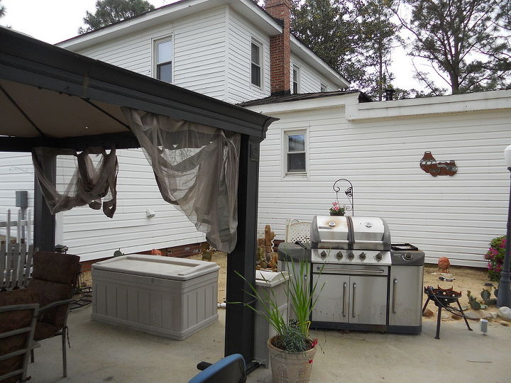 The gazebo is a great place to enjoy summer barbecues