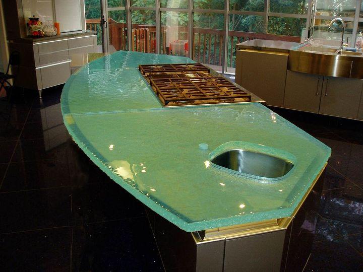 fusion glass, countertops, kitchen design, kitchen island