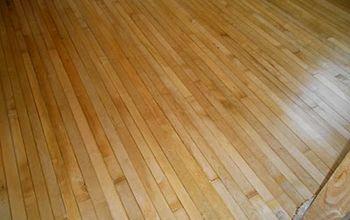 Refinished 100 year old hardwood flooring