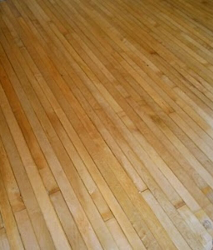 The relaid flooring after being lovingly planed, cleaned and gently sanded