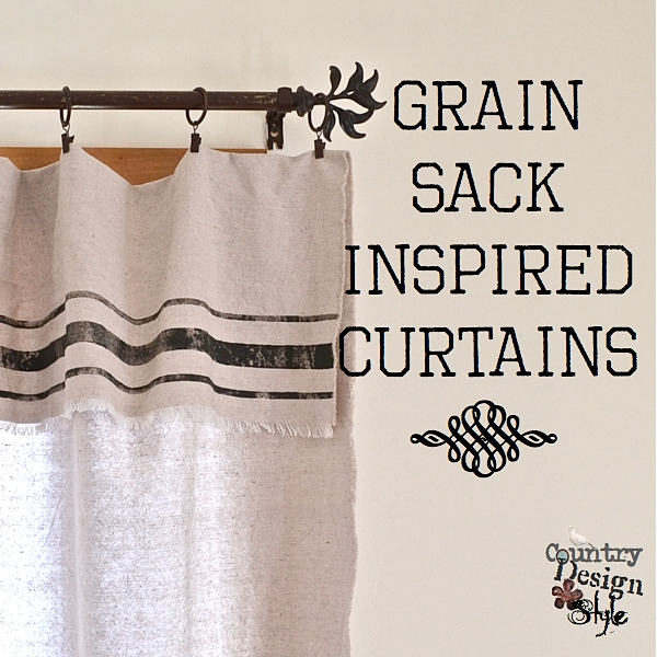 Grain Sack Inspired Curtains From Drop Cloths Best No Sew Crafts Home Decor
