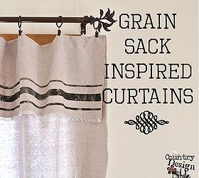 Exceptional Grain Sack Inspired Curtains From Drop Cloths Best No Sew, Crafts, Home  Decor,