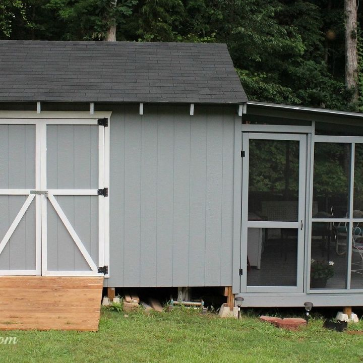 when you can t build a screened porch on your house, diy, porches