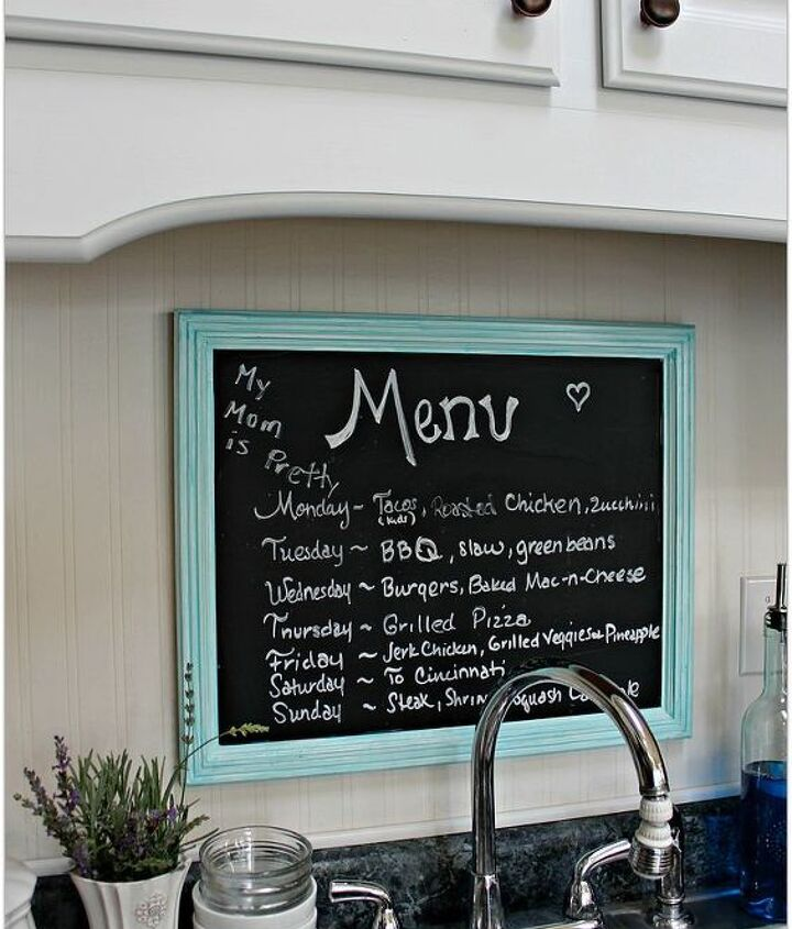 Add some beadboard wallpaper to your backsplash and a chalkboard menu.