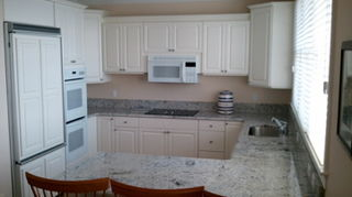 , Kitchen painted in Cabinet Coat