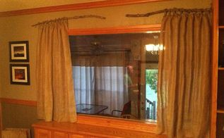 burlap curtains, home decor, reupholster, window treatments