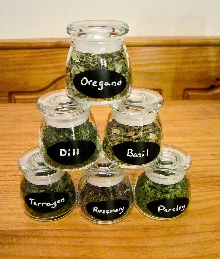 fresh herb jars as a handmade gift plan for next year now, crafts, gardening
