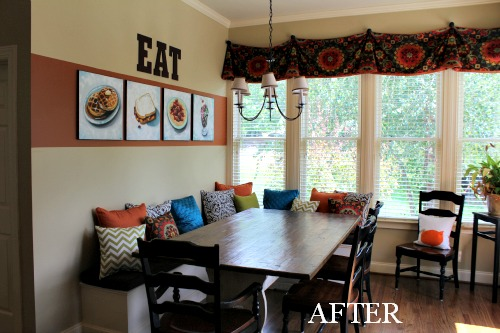 Kitchen Banquette Area - After