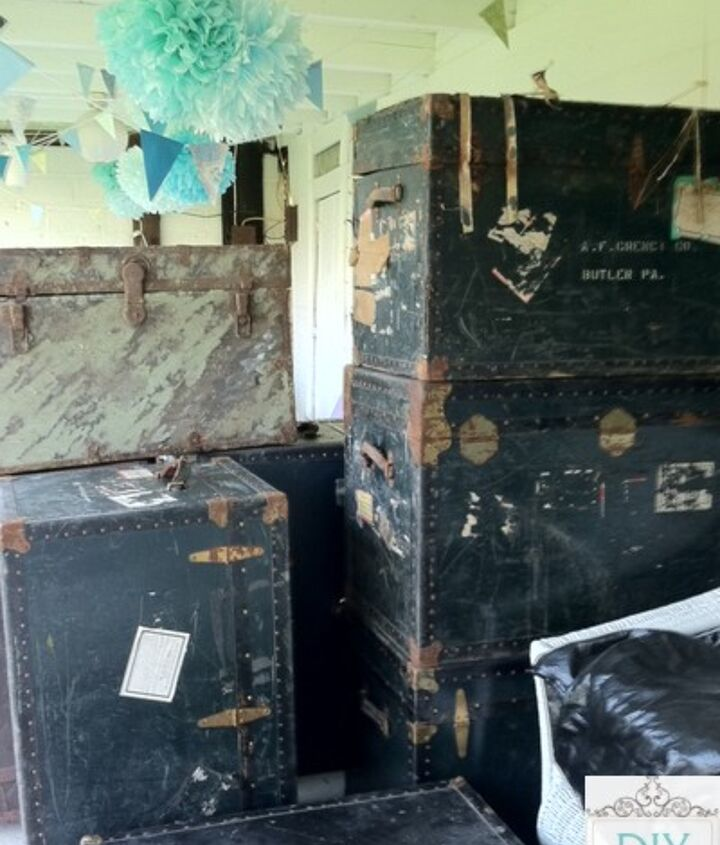 """the """"lot"""" of steamer trunks {more ideas coming!}"""
