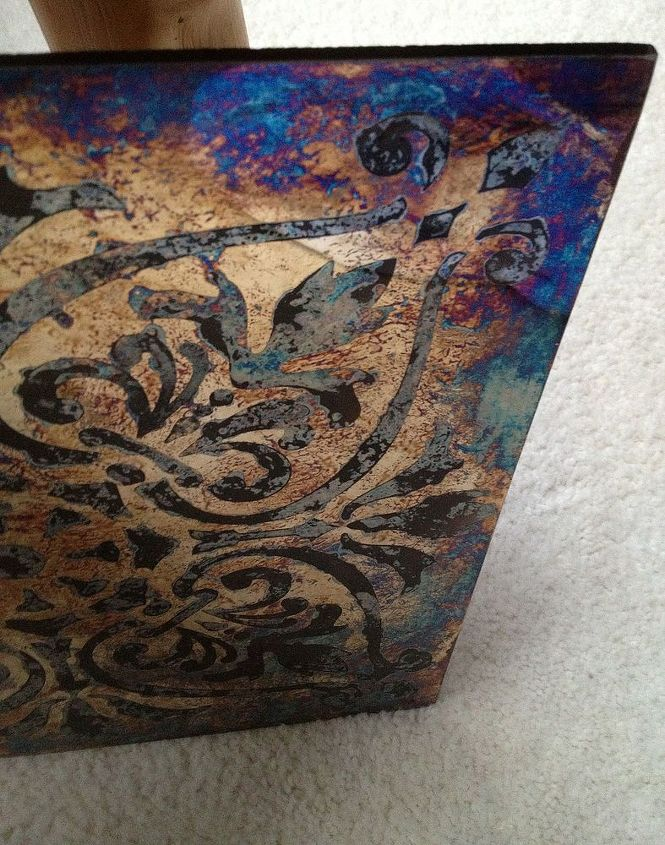 antiqued mirror class, crafts, painting, repurposing upcycling