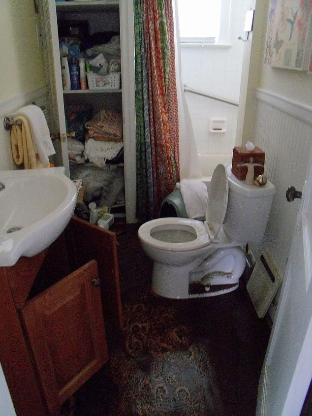 this is what I faced when returning to my home.Two feet of muddy flood water does not leave much that is salvageable. Only the toilet was reusable!