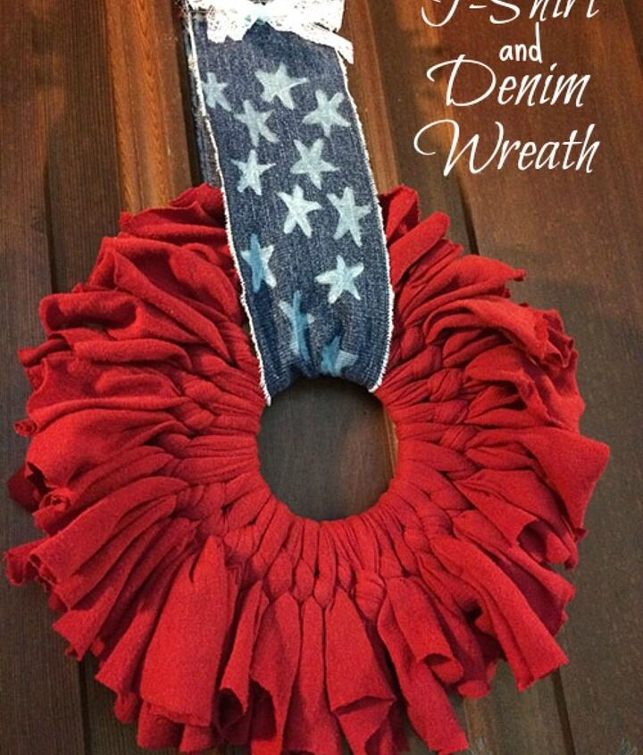 upcycled patriotic wreath, crafts, wreaths