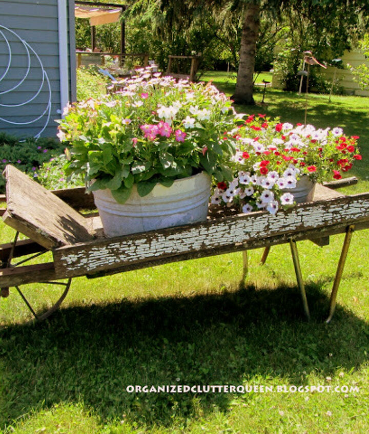my first and favorite junk garden purchase, flowers, gardening, repurposing upcycling