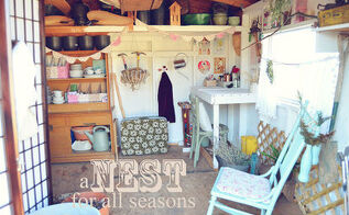 my shed retreat, gardening, home decor, outdoor living, storage ideas, Mommy s Shed A Nest for All Seasons