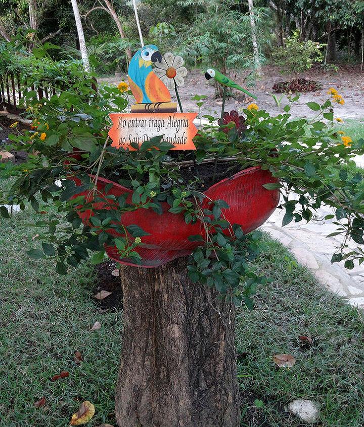 recycled tires, gardening, repurposing upcycling