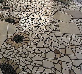This Is Another Section Of A Mosaic Floor I Created, Flooring, Tile Flooring,  ...