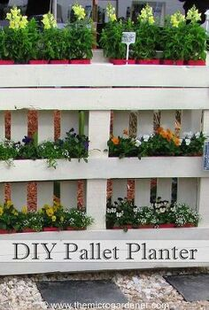 diy pallet planter, diy, gardening, how to, pallet, repurposing upcycling, succulents, woodworking projects, This is the original underside of the pallet but I ve used this side to create 6 mini planter boxes with 4 x 100mm 3in pots