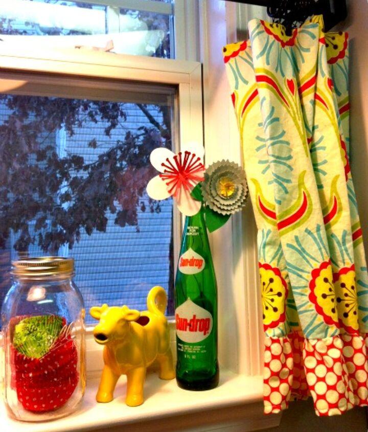 paper flowers in vintage soda bottles, crafts, repurposing upcycling