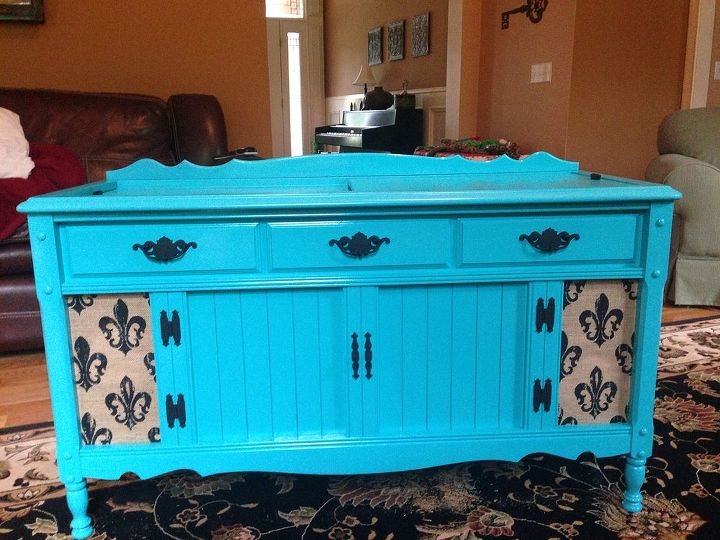 new life to an old record player stereo cabinet, painted furniture, repurposing upcycling