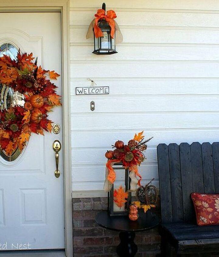 fall front porch, porches, seasonal holiday decor