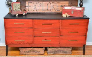 9 drawer boys room dresser makeover, painted furniture