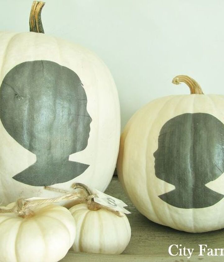 diy white pumpkins silhouettes, crafts, electrical