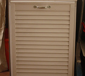 Tilt Out Trash Cabinet From Salvaged Shutter, Doors, Kitchen Cabinets,  Woodworking Projects,