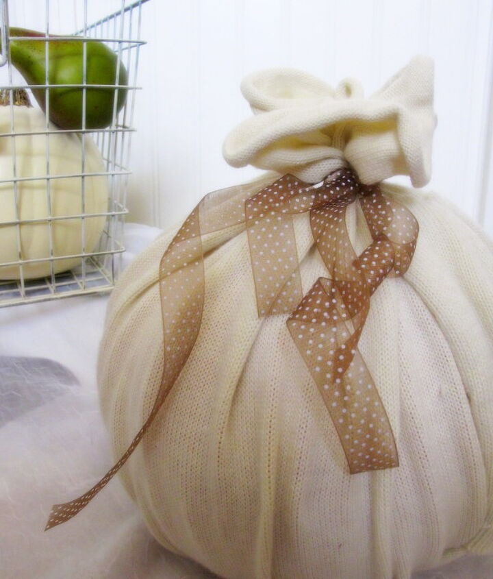 ball sweater adorable pumpkin, crafts, repurposing upcycling, seasonal holiday decor