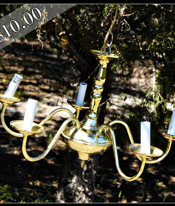solar powered chandelier, diy, electrical, lighting, outdoor living, This is the chandelier before the makeover Dust off the old chandelier and remove all of the wiring and bulbs