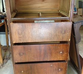 Old Dresser And Now It S A Wine Cabinet With Glass Holder, Painted  Furniture, Repurposing