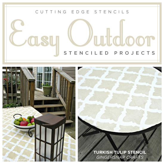 easy outdoor stencil projects, outdoor furniture, outdoor living, painted furniture, patio
