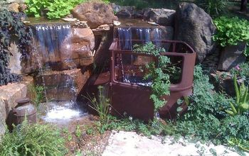 Antique Car Pondless Waterfall
