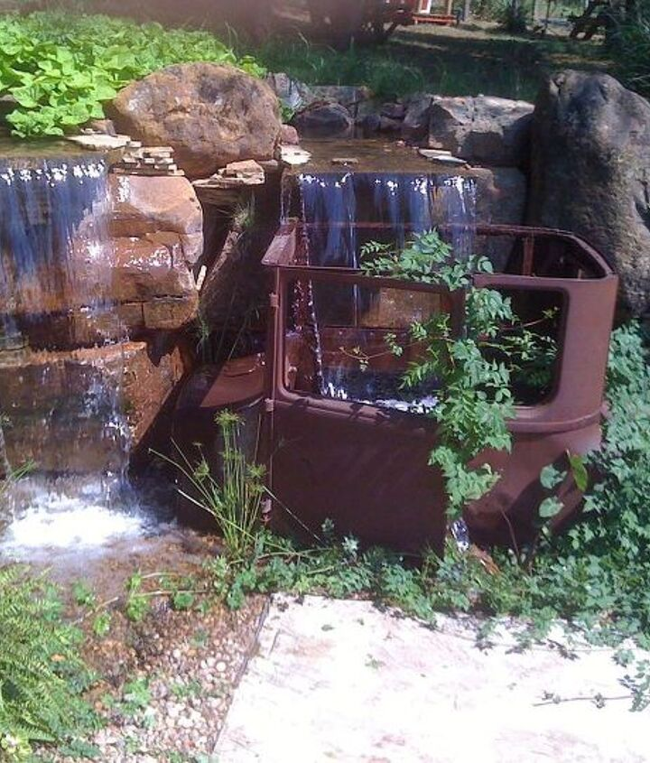 Multiple waterfalls with a unique twist.
