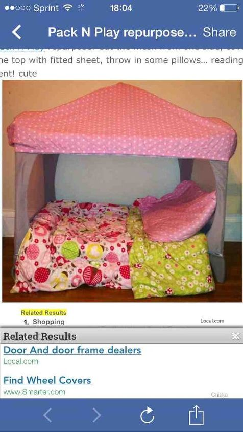 refurnished pack and play, crafts, repurposing upcycling