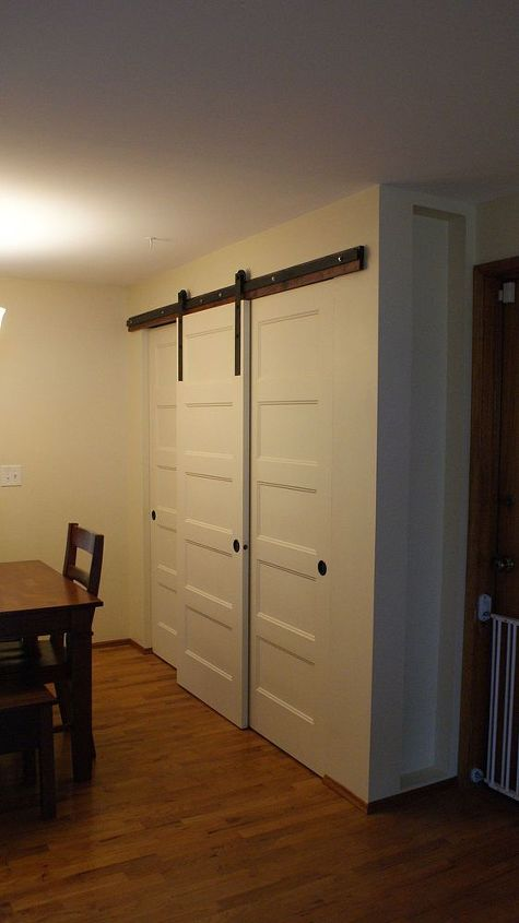 New Pantry Build With Sliding Barn Style Doors Budgetupgrade Hometalk