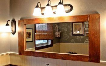diy bathroom vanity mirror, bathroom ideas, diy, home decor