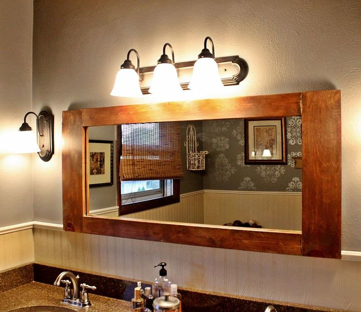 diy bathroom vanity mirror, bathroom ideas, diy, home decor
