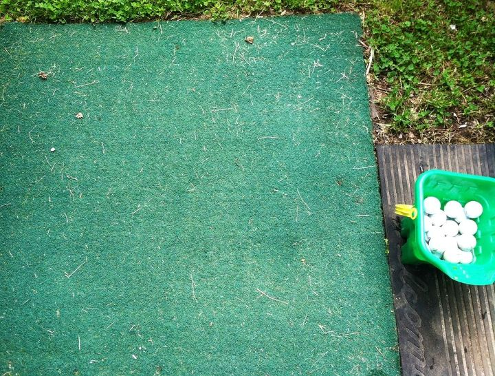 The 4'x4' chipping mat!