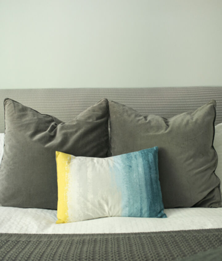 diy headboard for under 30, bedroom ideas, diy, how to, painted furniture, repurposing upcycling, Our 30 DIY Headboard