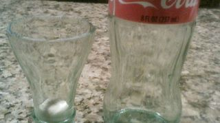 q coke bottle crafts, crafts, repurposing upcycling, Coca Cola Shot glass and chaser set