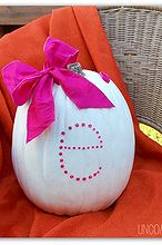 personalized and pink pumpkin, crafts, Personalized and Pink Pumpkin