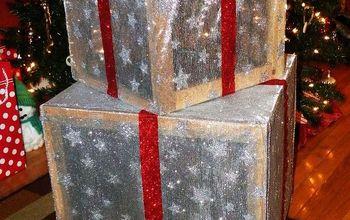 outdoor lighted christmas presents, crafts, seasonal holiday decor