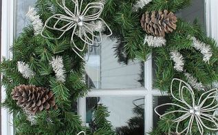christmas wreath tutorial, christmas decorations, crafts, seasonal holiday decor, wreaths